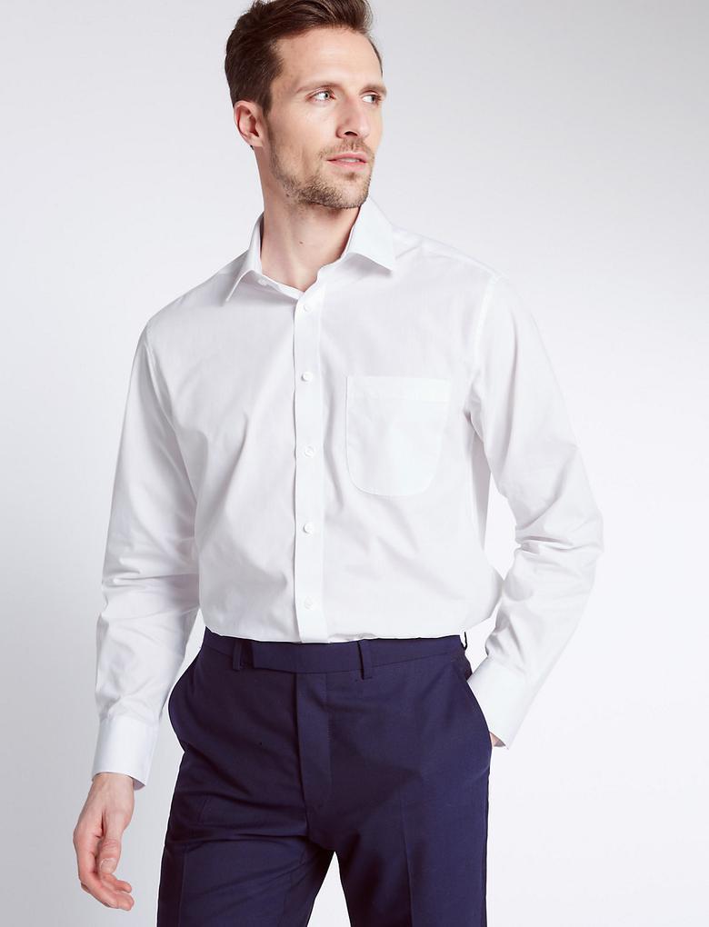 3'lü Kolay Ütülenebilir Regular Fit Gömlek