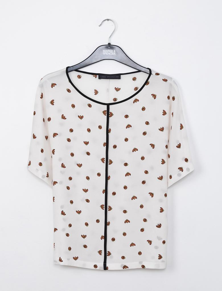 Kısa Kollu Kimono Bluz