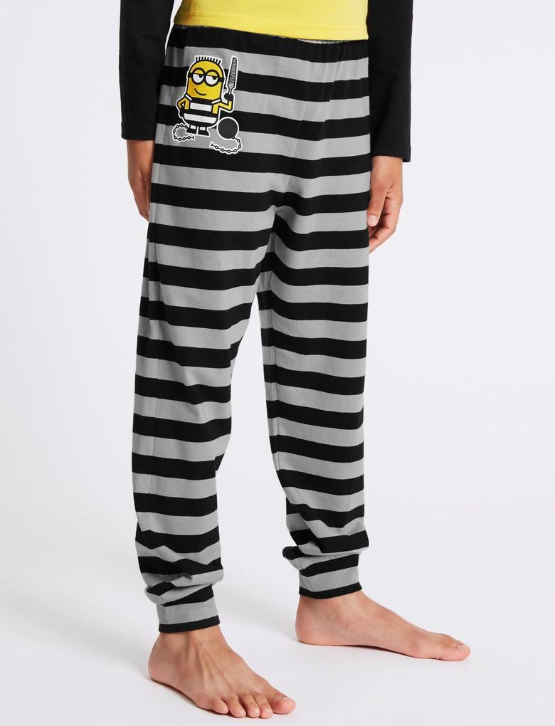 Saf Pamuklu Despicable Me Minions Pijama Takımı (3 - 14 Yaş)