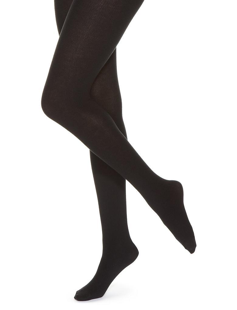 Siyah 10 Denye Yumuşak Opak Külotlu Çorap