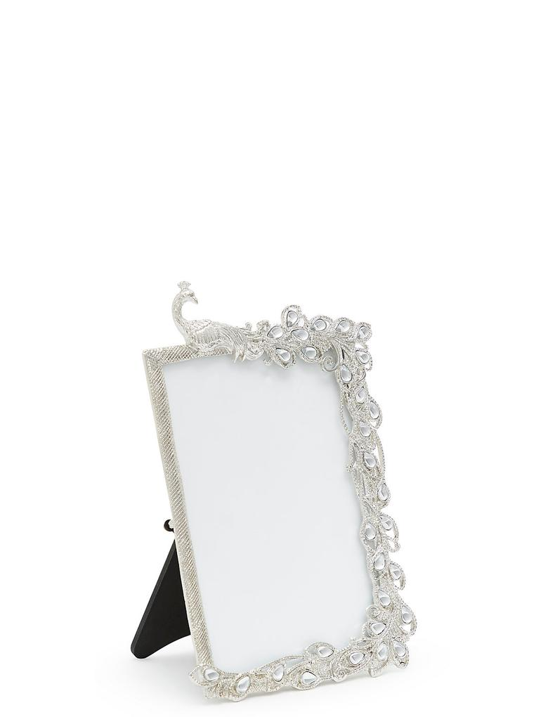 Metalik Tavuskuşu Fotoğraf Çerçevesi 10x15 (4x6 inch)