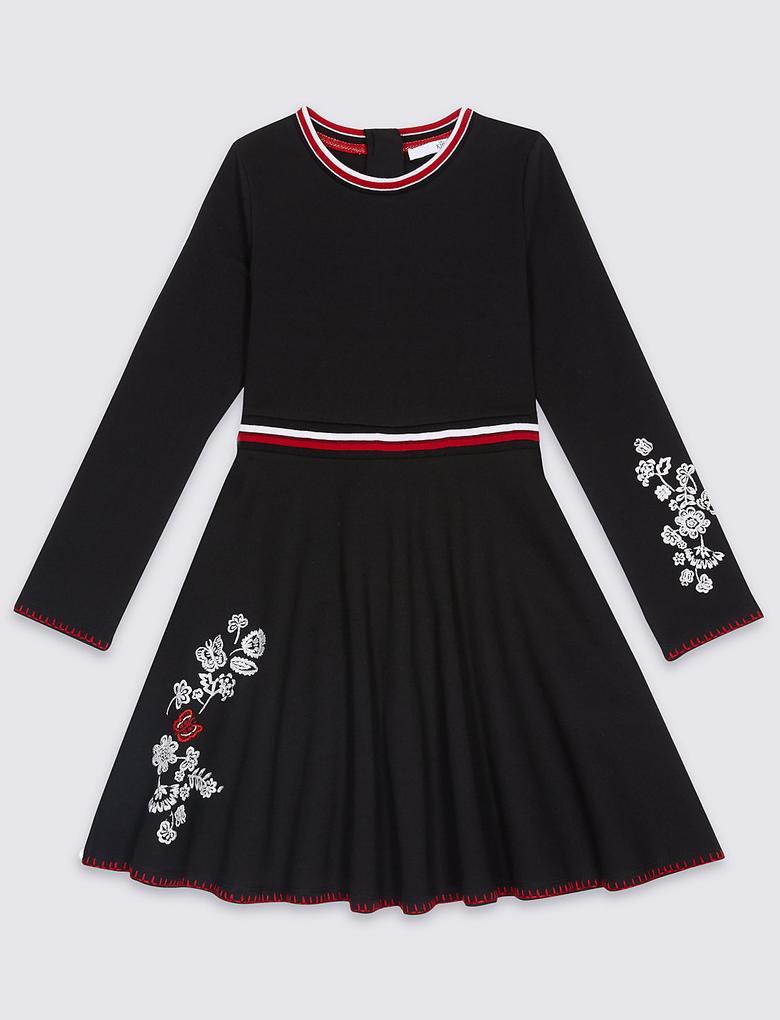 İşlemeli Elbise (3 - 14 Yaş)
