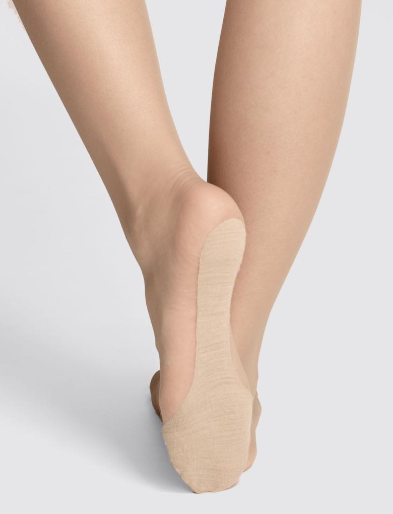 10 Denye Parlak Yünlü Sıcak Parmak Uçları Külotlu Çorap