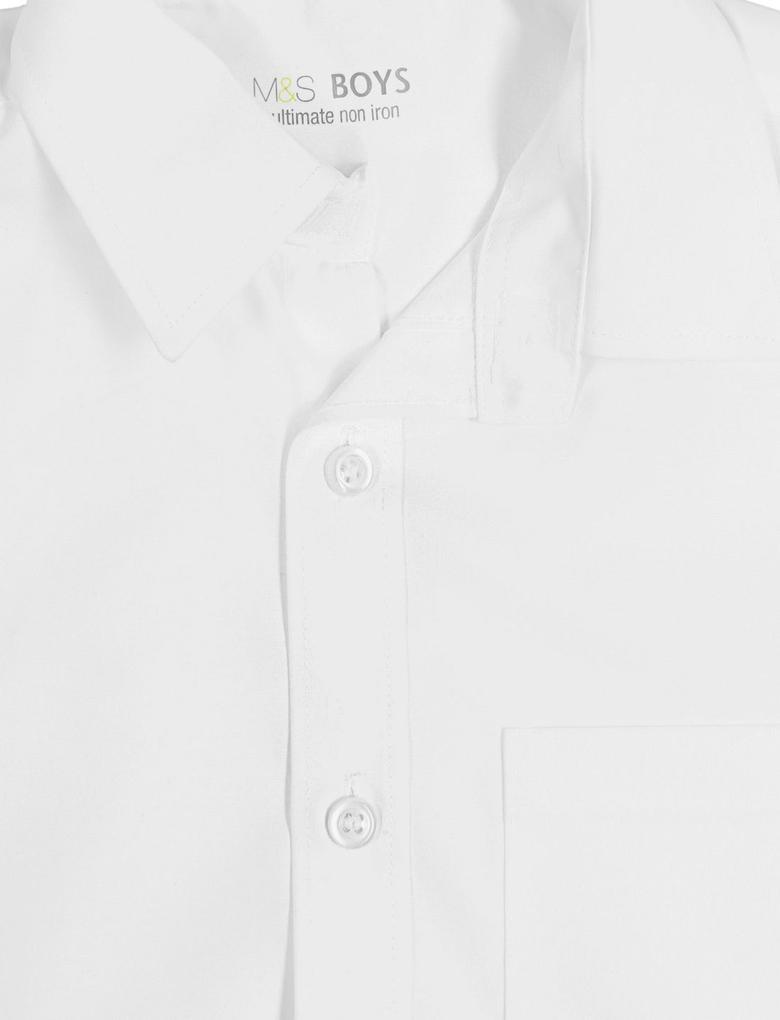 Beyaz 2'li Saf Pamuklu Gömlek