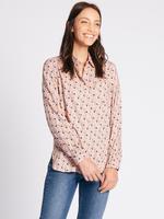 Pembe Desenli Uzun Kollu Gömlek