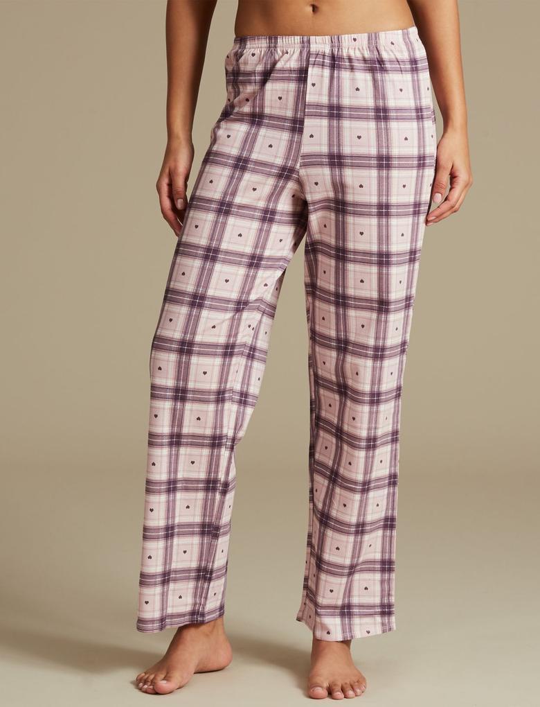 Saf Pamuklu Desenli Uzun Kollu StayNEW™ Pijama Takımı