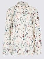 Bej Desenli Uzun Kollu Gömlek