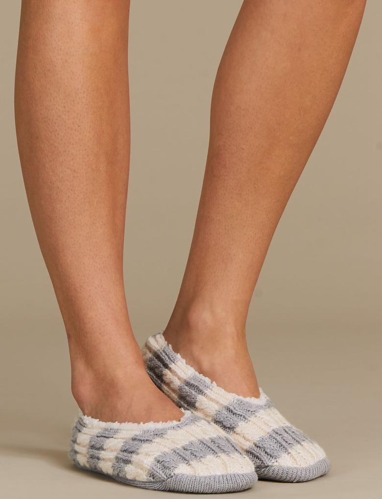 Çizgili Çorap Terlik
