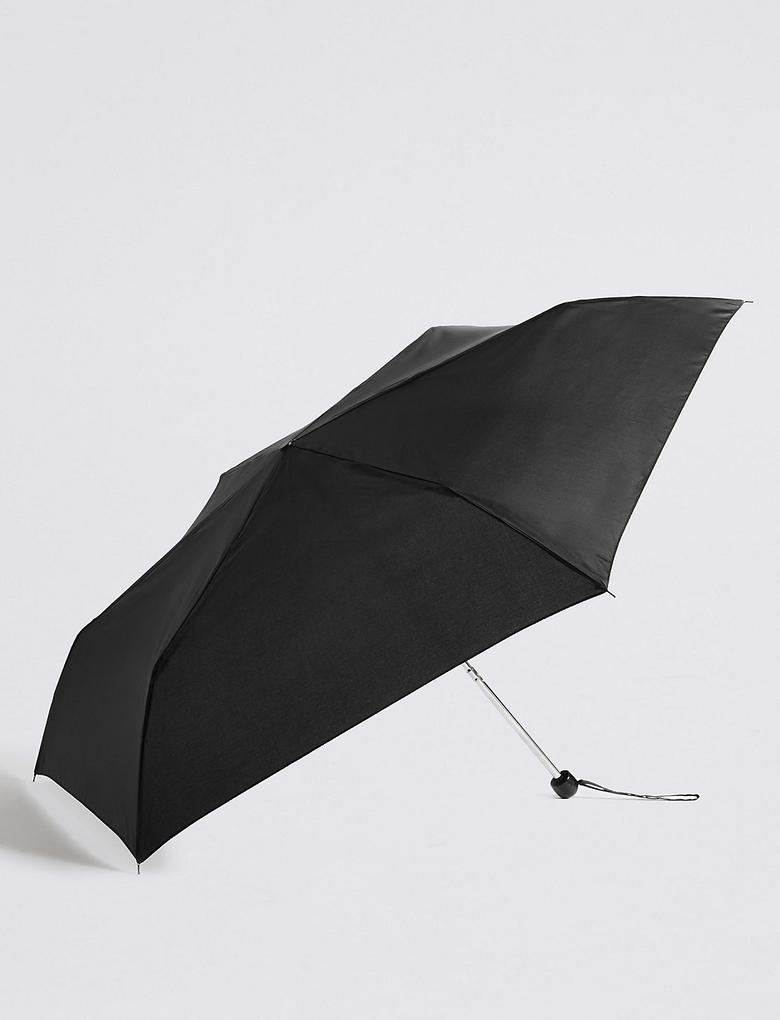 Siyah Kompakt Şemsiye (Stormwear™ Teknolojisi ile)
