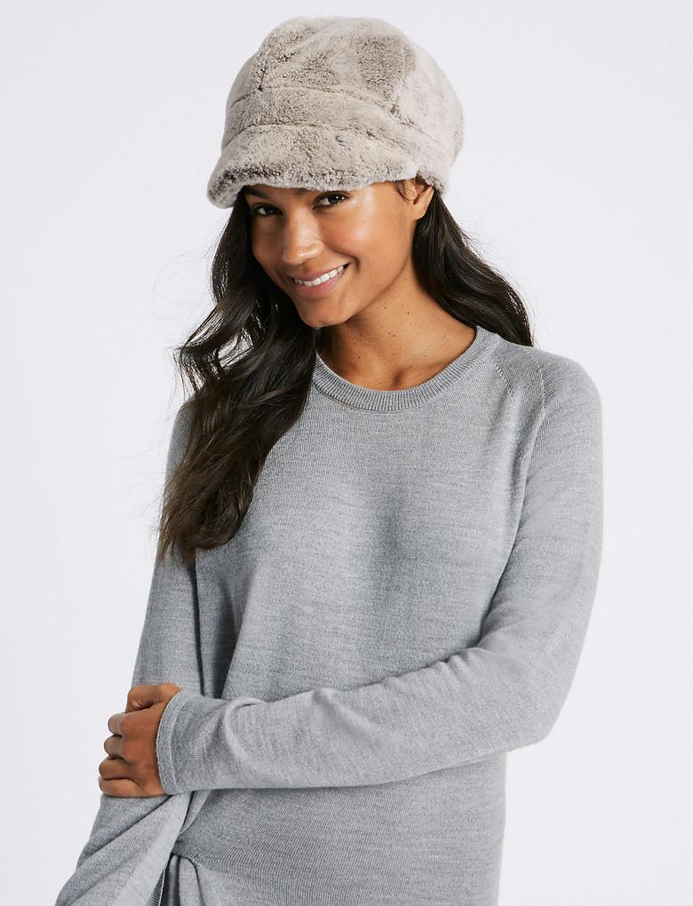 Kürklü Kışlık Şapka
