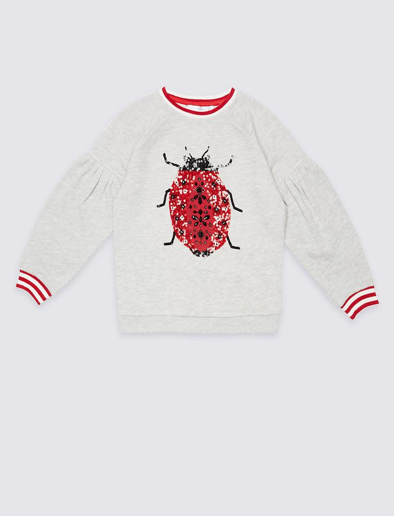 Pul İşlemeli Sweatshirt (3 - 14 Yaş)