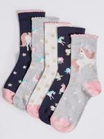 5'li Pamuklu Freshfeet™ Çorap (12 Ay - 10 Yaş)