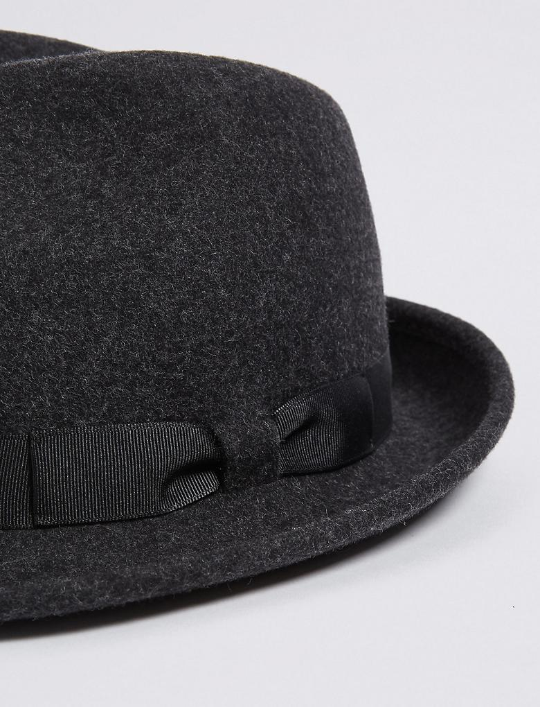 Saf Yün Fötr Şapka