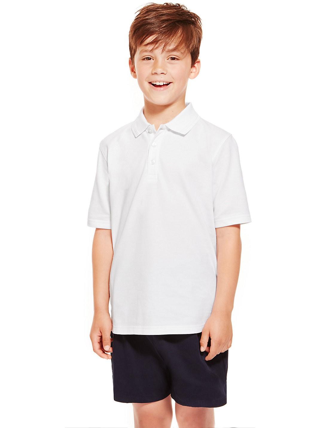 2'li Saf Pamuklu Polo Yaka T-Shirt