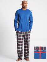 Kırmızı Saf Pamuklu Ekose Pijama Takımı