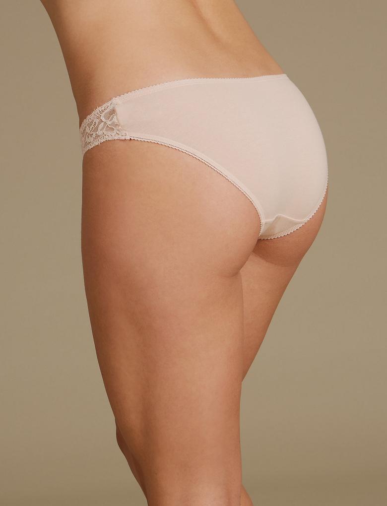 5'li Pamuklu Dantelli Bikini Külot Seti