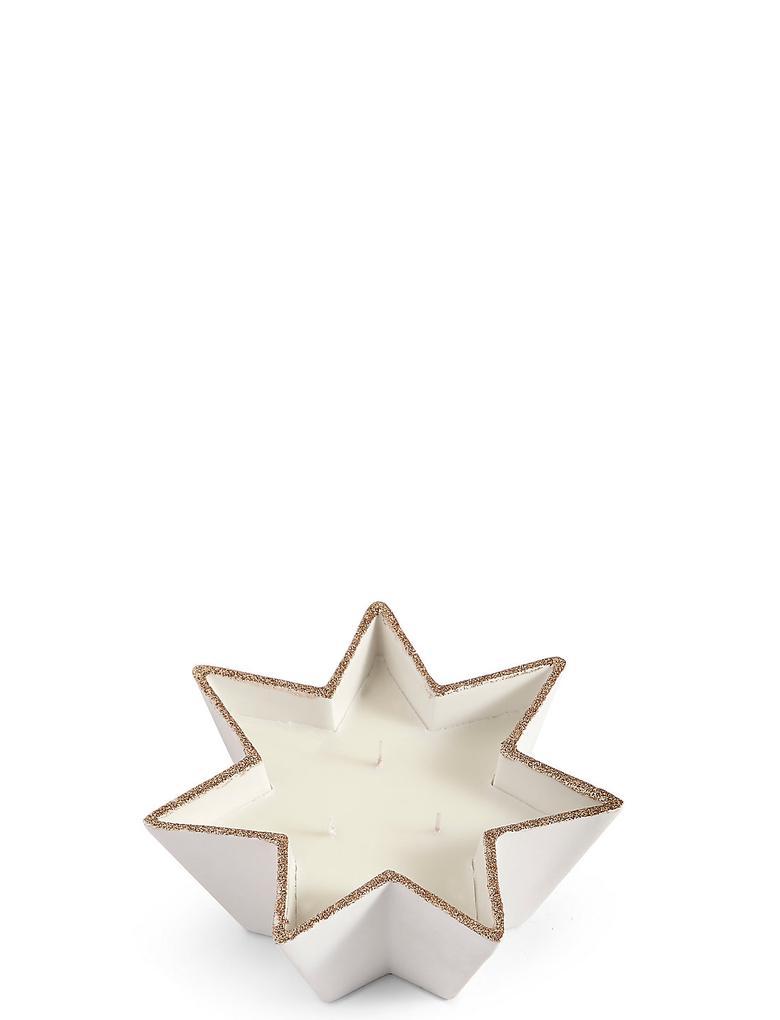 Sarı Frankincense & Myrrh Kokulu Seramik Yıldız Mum