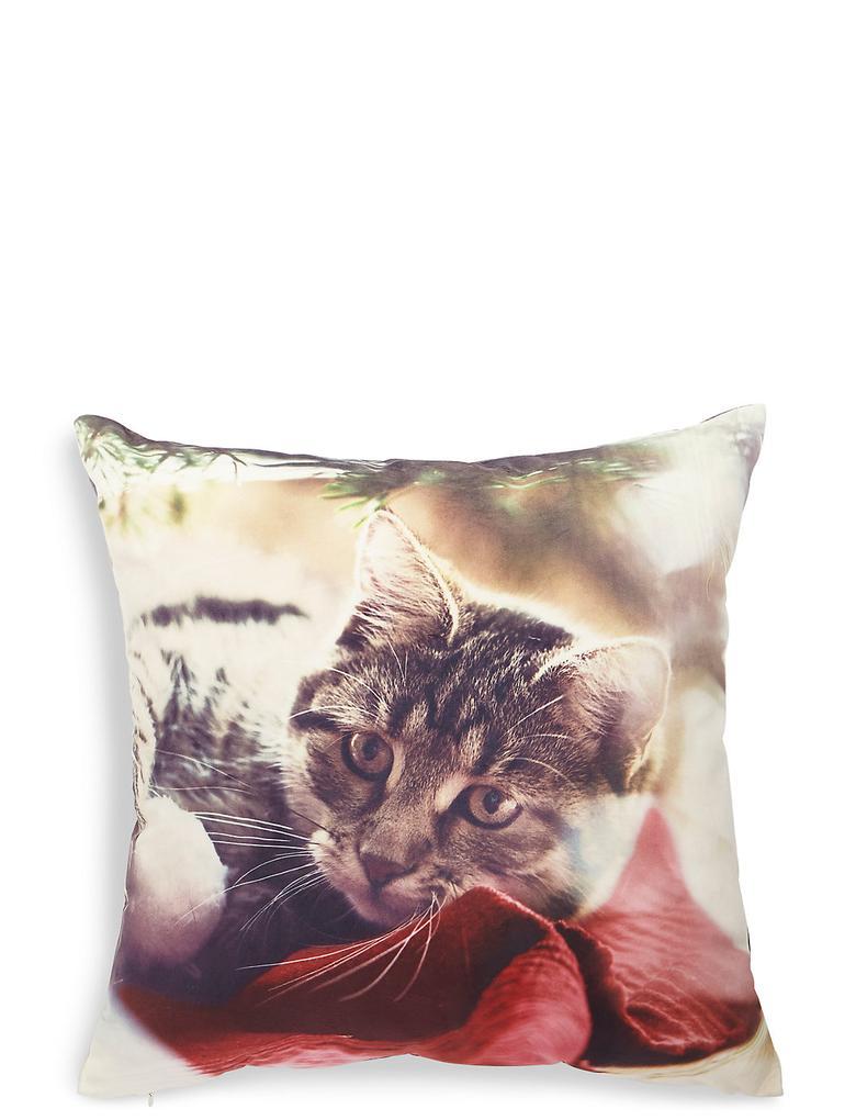 Kedi Desenli Yastık