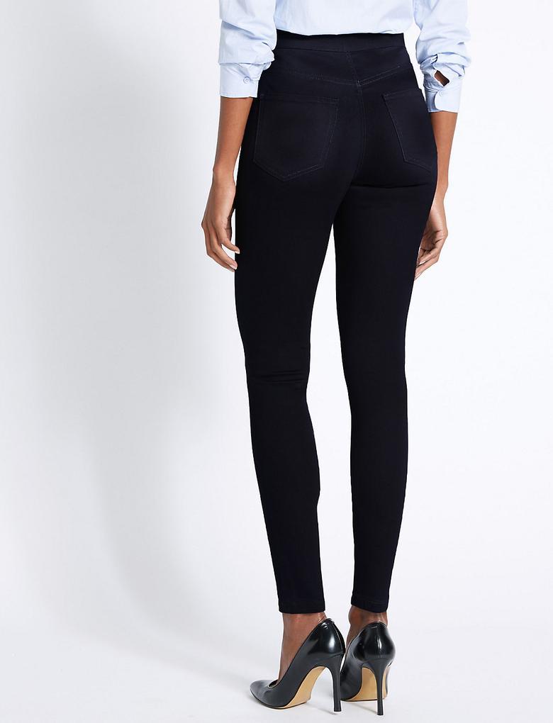 Kadın Mor Yüksek Belli Super Skinny Jean Pantolon