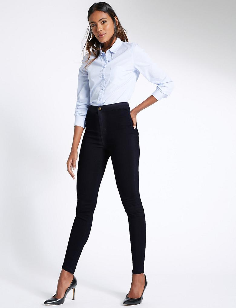 Yüksek Belli Super Skinny Jean Pantolon