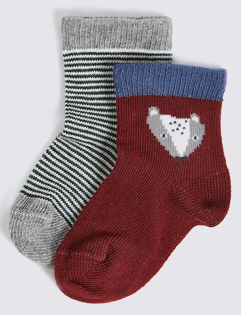 Marie Chantal - 2'li Pamuklu Çorap (0 Ay - 6 Yaş)