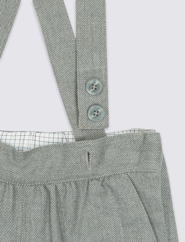 Marie Chantal - Yünlü Askılı Pantolon