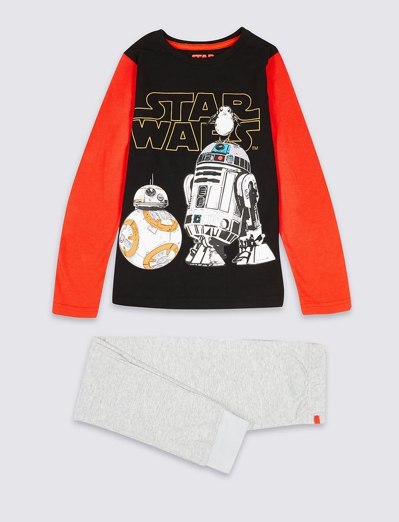 Saf Pamuklu Star Wars Pijama Takımı (5 - 16 Yaş)