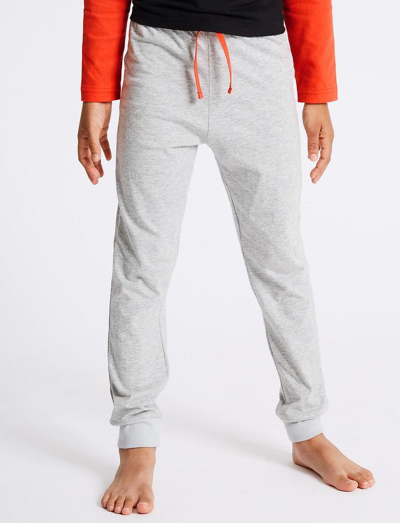 Gri Saf Pamuklu Star Wars Pijama Takımı (5 - 16 Yaş)