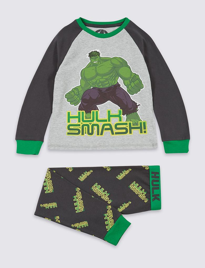 Avengers Pamuklu Streç Pijama Takımı (2 - 10 Yaş)