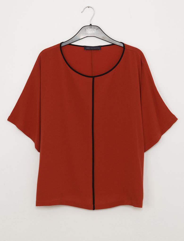 Kırmızı Kimono Üst
