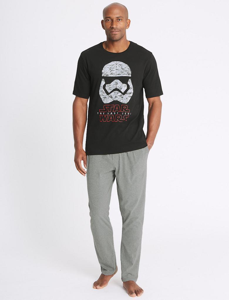 Star Wars™ Desenli Pamuklu Pijama Takımı