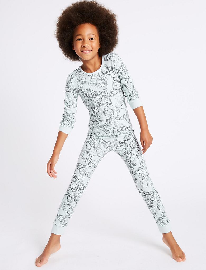 Gri 2'li Pamuklu Streç Pijama Takımı (3 - 16 Yaş)
