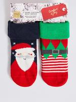 2'li Pamuklu Bebek Çorap Seti (0-24 Ay)