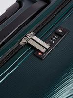 Yeşil 4 Tekerlekli Orta Boy Ultra Hafif Güvenlik Fermuarlı Valiz