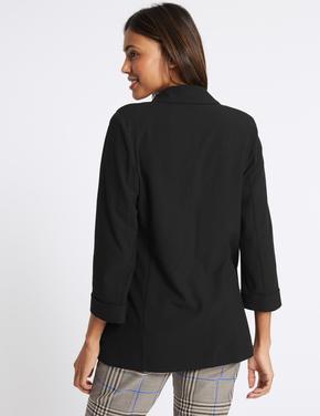 Siyah Cepli Blazer Ceket