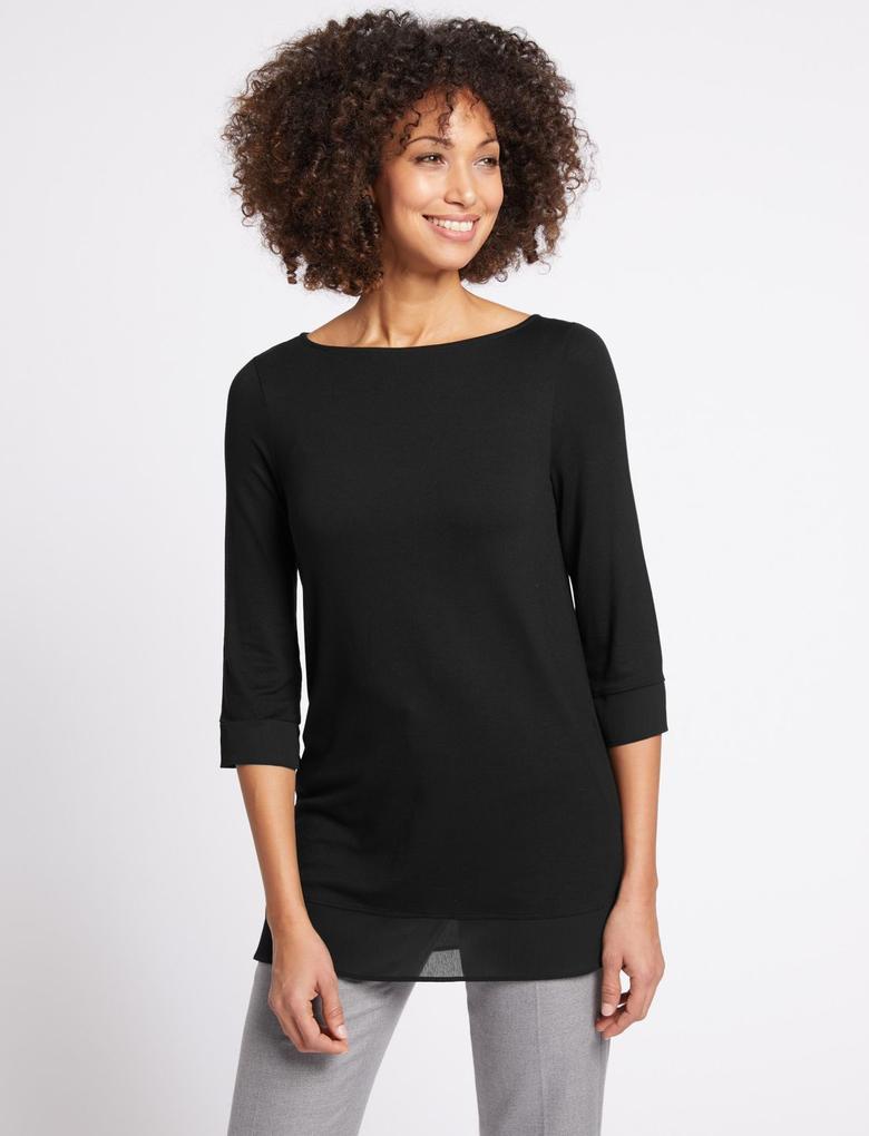 Siyah Uzun Kollu T-Shirt