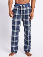 Saf Pamuklu Ekose Pijama Altı