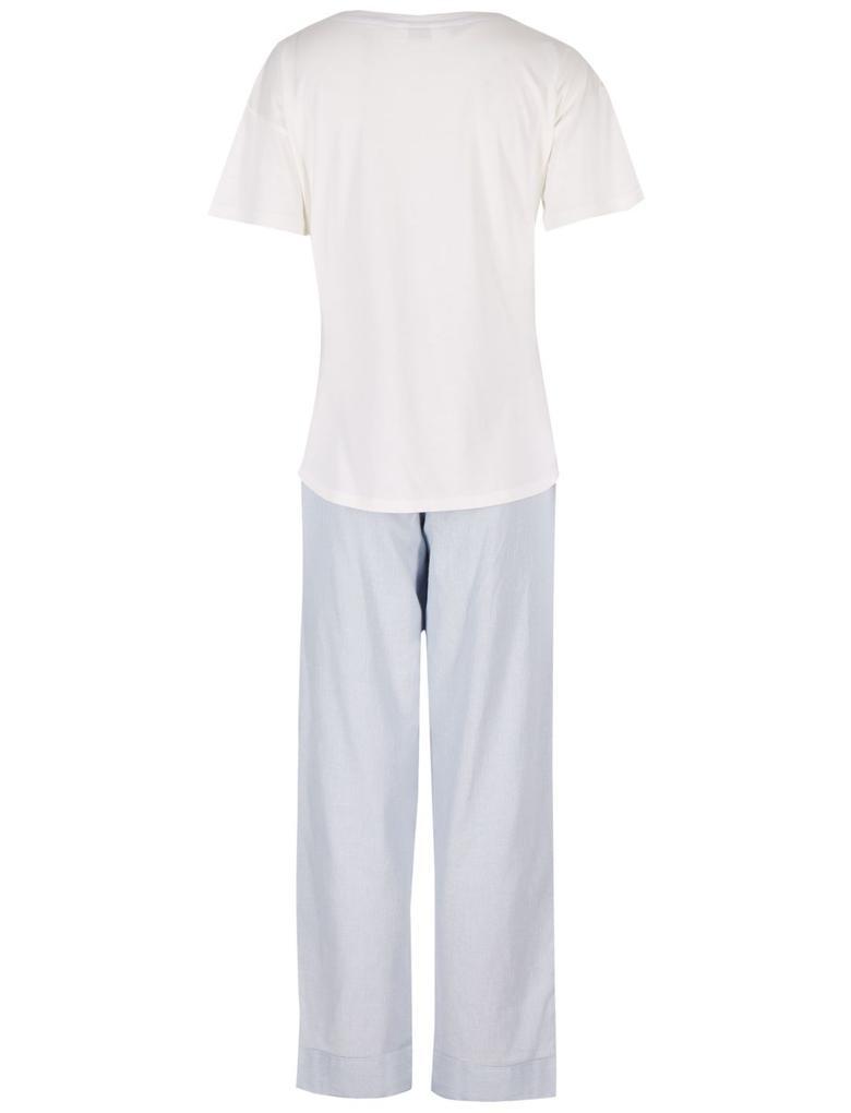 Pamuklu Kısa Kollu Pijama Takımı