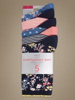 Lacivert 5'li Sumptously Soft Çorap