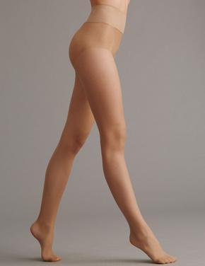 Kadın Kahverengi 10 Denye Mat Külotlu Çorap