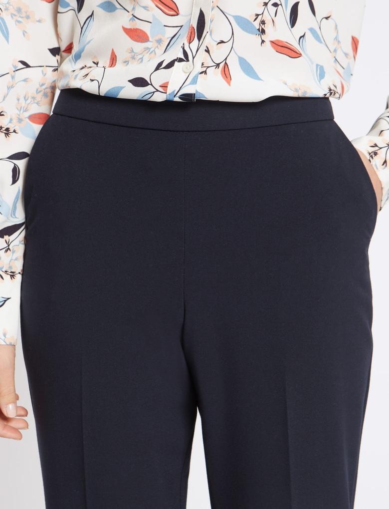 Elastik Belli Straight Leg Pantolon