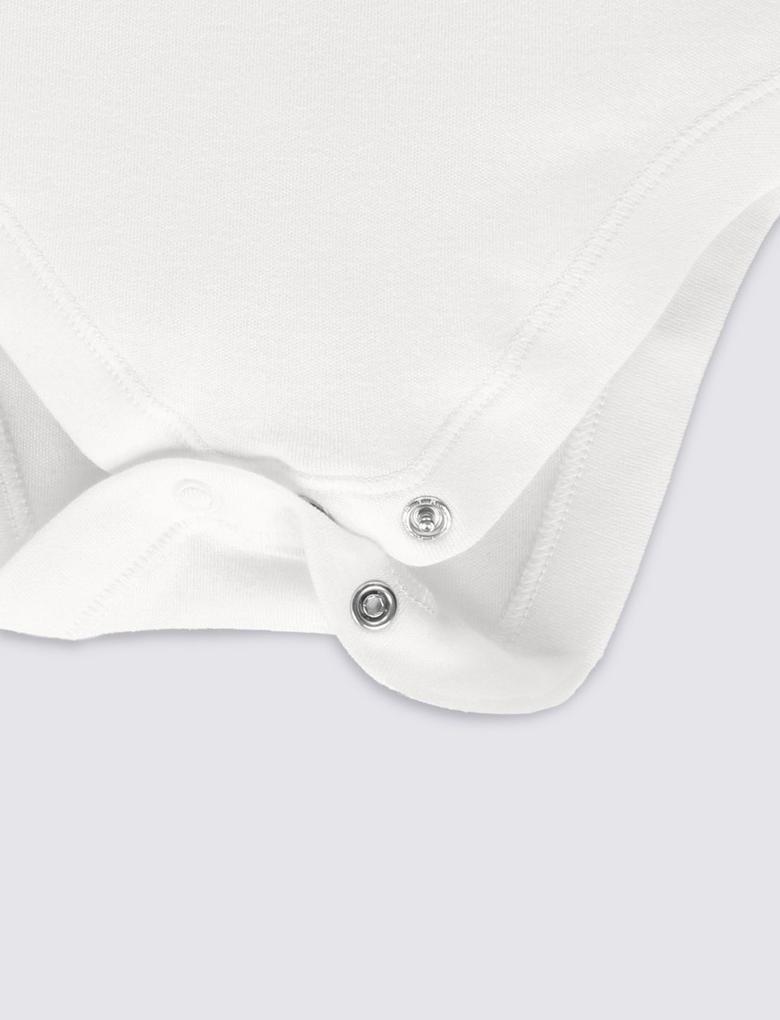 Beyaz 7'li Unisex Saf Pamuklu Body
