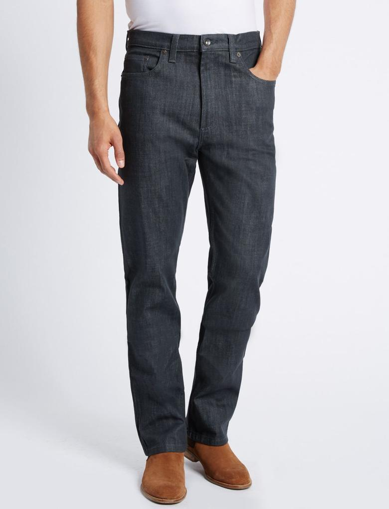 Regular Fit Streç Jean Pantolon (StayNew™ Teknolojisi ile)