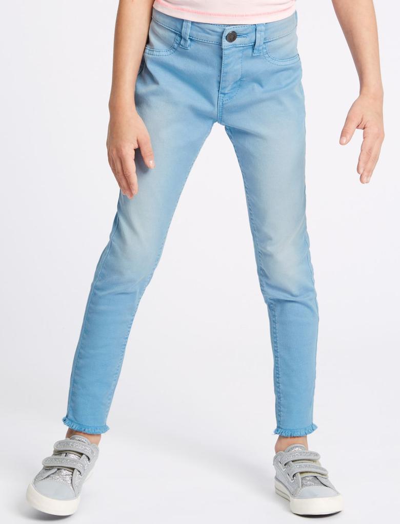 Pamuklu Skinny Fit Jean Pantolon (3 - 16 Yaş)