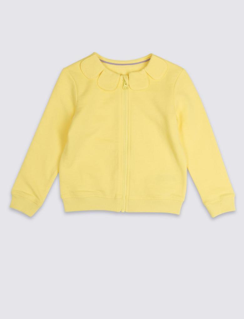 Sarı Fermuarlı Üst (3 Ay - 7 Yaş)