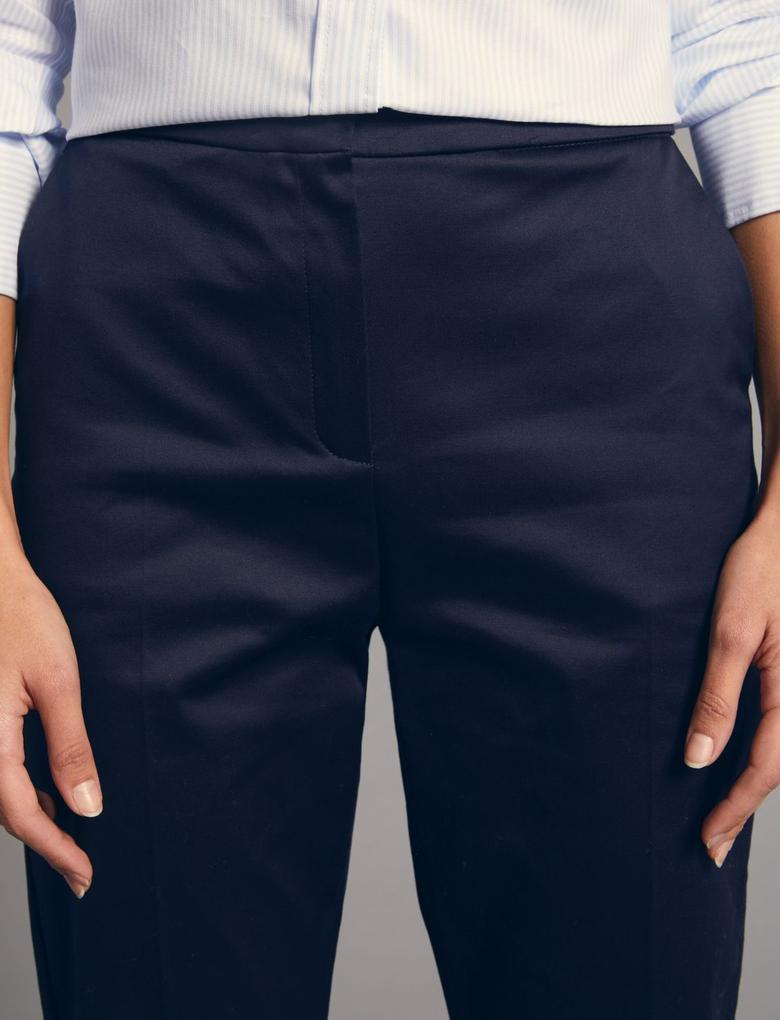 Lacivert Supima Pamuklu Pantolon
