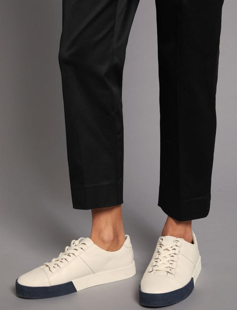 Siyah Supima Pamuklu Pantolon