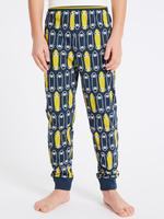 Mavi 2'li Saf Pamuklu Pijama Takımı (4 Parça) (3 -16 Yaş)