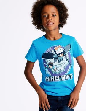 Saf Pamuklu Minecraft™ T-Shirt (3 - 16 Yaş)