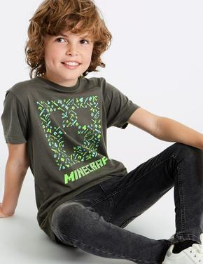 HIZLI GÖRÜNÜM Saf Pamuklu Minecraft™ T-Shirt (3 - 16 Yaş) ... 07de95f396c